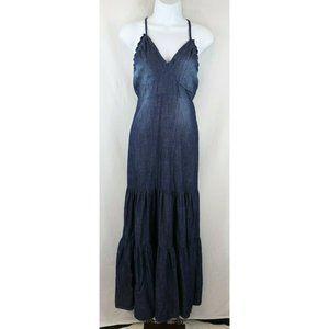 Wonderly Ladies  Dark Denim Maxi Summer Dress Sz S